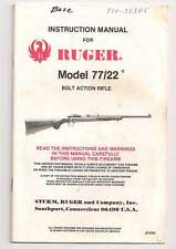 1983 RUGER MODEL 77/22 BOLT ACTION RIFLE Instruction Manual