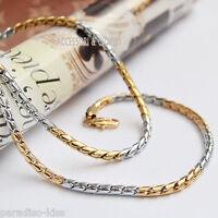 collana catena girocollo uomo in acciaio dorato 52cm c.108