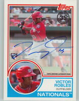 VICTOR ROBLES 2018 Topps Series 1 1983 TOPPS AUTO On-Card Autograph NATIONALS RC