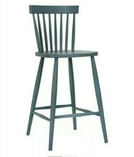 @ Beech Spindle Wooden Traditional Bar Stool Charcoal Grey Kitchen Chair 27:1