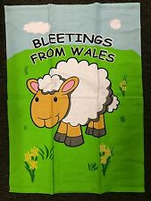 Wales Sheep Rush Hour Bleetings Cotton Tea Towel Welsh Cymru Humour 74 x 48cm