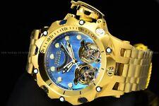 Invicta Reserve 52mm Venom Hybrid Auto Double Open Heart 47J Gold Blue MOP Watch