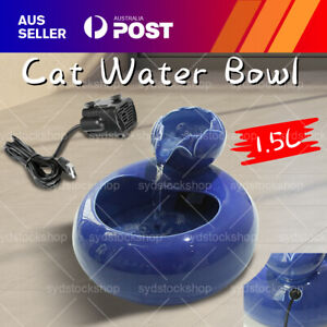 Pet Drinking Water Fountain Electric Dog/Cat Automatic Bowl Filter & USB Cables