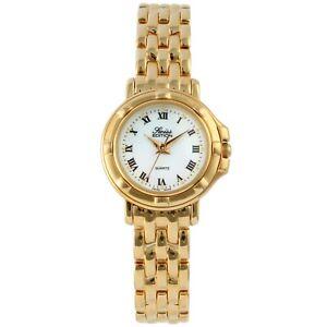 Swiss Edition Women's Gold Round Stainless Steel Quartz Watch