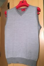 Isaia Mens Grey Sweater Vest Size M