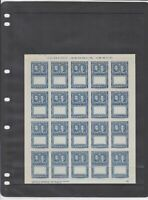 1952 Liberia Imperf Error Mint Never Hinged Stamps Sheet Ref 35943