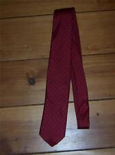 Mens Necktie Red with Blue Design Pulitzer 100% Silk Vintage