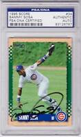 1995 Score SAMMY SOSA Signed Baseball Card PSA/DNA Chicago Cubs
