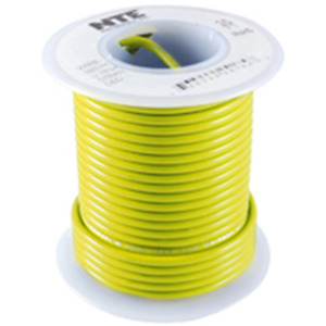 NTE Electronics WH22-04-1000 HOOK UP WIRE 300V STRANDED 22 GAUGE YELLOW 1000'