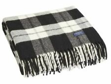 Faribault Woolen Mill Co. Bison Check Wool Throw - Natural / Black