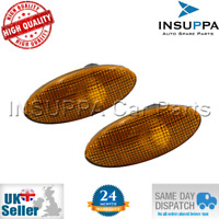 2X SIDE SIGNAL INDICATOR LAMP AMBER FOR OPEL VAUXHALL VECTRA B MK1 95-03 1713008