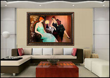 Itzchak Tarkay Large Original Acrylic Painting On Canvas Signed Cafe Women Art