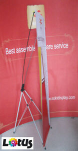 Economy X Shape Banner Stand Iron - Easy to Store and Move (X-Banner Stand)