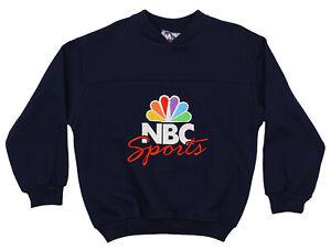 Mighty Mac Boys Youth Vintage 90's NBC Sports Fleece Crew Sweatshirt, Navy