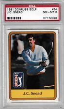 1981 Donruss J.C. Snead Golf #54 Card Graded Psa 8 Nm-Mt