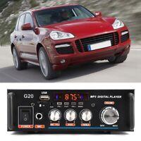 Car Bluetooth Audio Digital Amplifier Support SD USB FM + Remote control