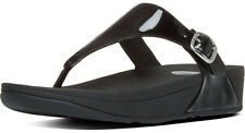 NEW Fitflop Women's Skinny Sandals, Black Patent Leather, Women Size 11, $100