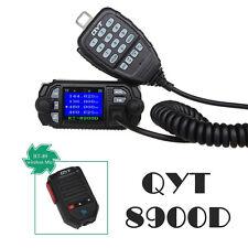 QYT KT-8900D VHF UHF Color Screen Car Mobile Radio Transceiver+BT-89 Wireless Mi