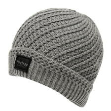 MENS GREY MARL FIRETRAP CABLE DOCK HAT KNIT KNITTED BEANIE PREMIUM BEENIE