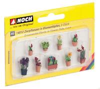 14012 Noch HO, Zierpflanzen in Blumen 9 Stück, Laser-Cut minis, Modelleisenbahn