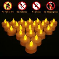 24pcs Battery Tea Lights Candle Flameless Party Wedding LED Electric Tealights