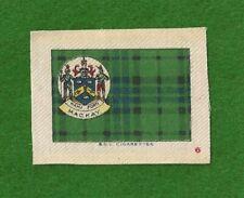 MACKAY CLAN TARTAN & Family Coat of Arms original 1922  printed silk tartan