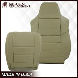 2002 2003 2004 2005 Ford Excursion Limited Synthetic Leather Seat Cover in Tan