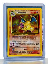 HOT 🔥 Pokemon TCG Charizard 4/102 Base Set Unlimited (WOTC 1999) Holo Rare