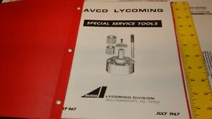 Lycoming Special Service Tools Manual AIRCRAFT AVIATION