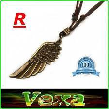Tibetan Angel Wing Feather Necklace with Pendant Protection Charm R surfer NK05