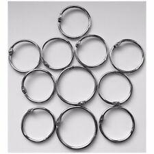 Metal Hinged Ring Book Binder Craft Photo Album Split Keyring Scrapbook Keychain