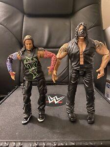 TNA Impact Wrestling Marvel Figure Lot Destination X Jeff Hardy & Abyss WWE