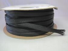 """8399 250' 1/2"""" Black Expandable Wire Cable Sleeving Sheathing Braid Braided Loom"""