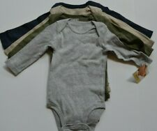 NEW Carters Baby Boy Infant  Long Sleeve Bodysuit 4 Pack size :6 months