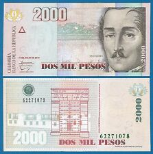Colombia 2000 Pesos P 457 t New 2014 UNC Low Shipping! Combine FREE! (P-457t)