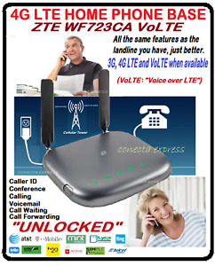 HOME PHONE BASE 4G LTE ZTE WF723CA  UNLOCKED  VoLTE  AT&T, T Mobile,