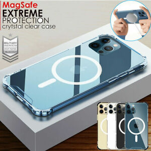 Clear MagSafe Magnetic Case for iPhone 12 Pro Max Mini Bumper Shockproof Cover