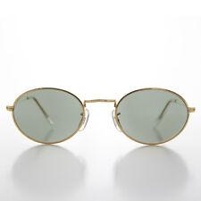Oval Gold Metallic Frame Vintage 90s Sunglass  - NORRIS