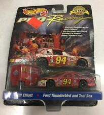 1997 Hot Wheels Pro Racing Bill Elliott #94 Ford Thunderbird and Tool Box. New.