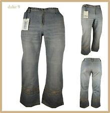 jeans corti da donna a vita alta bermuda pinocchietto estivi vintage palazzo w29