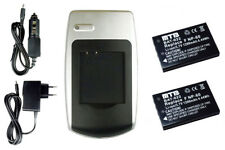 2 Akkus + Ladegerät für Medion Life MD-41856, MD-85146, MD-85733, MD-88188
