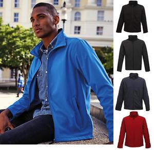 Classic Softshell Jacke Übergansgjacke Wasserabweisend Gr. S-3XL in 5 Farben