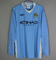 MANCHESTER CITY 2011-2012 HOME FOOTBALL LONG SLEEVE SHIRT JERSEY UMBRO SIZE 44