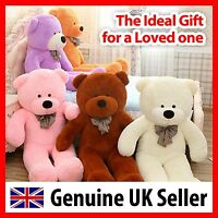 Giant teddy bear (6FT) 180cm Large soft plush Birthday Gift Present - UK Seller