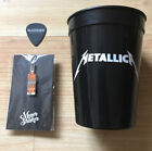 METALLICA BLACKENED AMERICAN WHISKEY LOT Guitar Pick Cup Pin Aftershock Festival