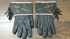 Rare Roy Rogers size 9 leather kids gloves w/ copper metal Roy Rogers script.