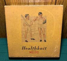 Vtg Antique Healthknit MacDee Boys Half Doz Athletic Shirts Size10 Sealed In Box