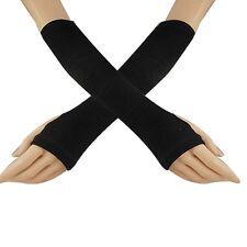 Unisex Punk EMO Rock Elastic Avril NINJA Blacks Long Arm Warmers Elbow Gloves