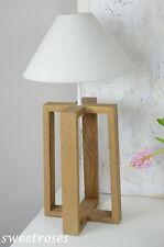 Lampenfuß Lampe Tischlampe Holz Landhaus Vintage Modern Natur Design Skandi NEU