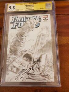 Fantastic Four #1 Alex Ross Sketch  Edition Signed CGC 9.8